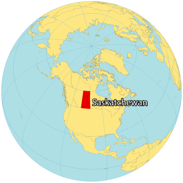 Saskatchewan Canada Map