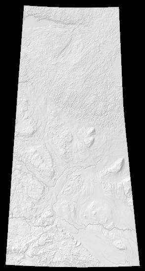 Saskatchewan Elevation Map