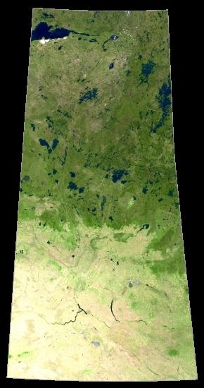 Saskatchewan Satellite Map
