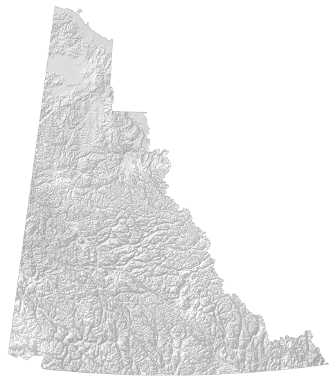 Yukon Elevation Map