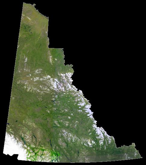 Yukon Satellite Map