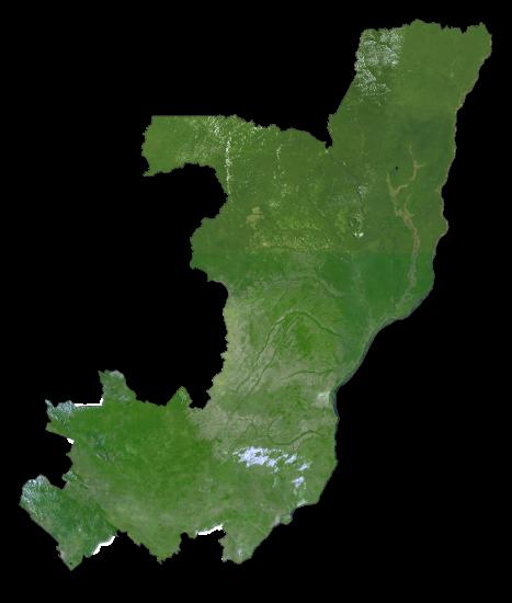 Congo Satellite Map