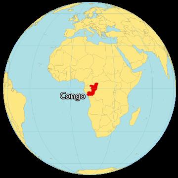 Congo World Map
