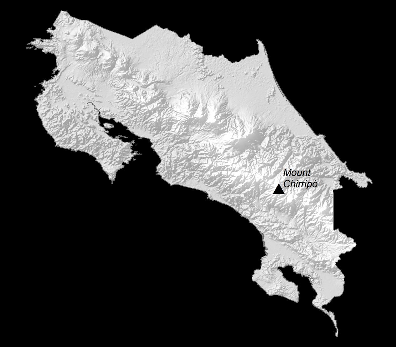 Costa Rica Elevation Map