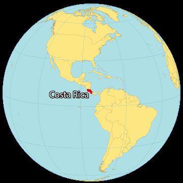 Costa Rica World Map