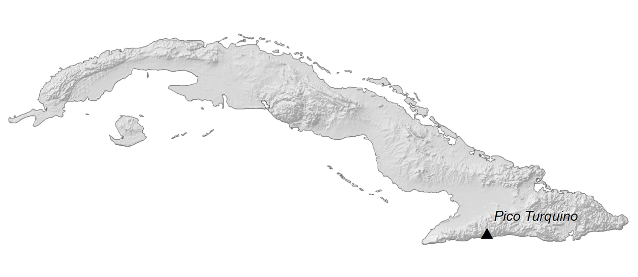 Cuba Elevation Map