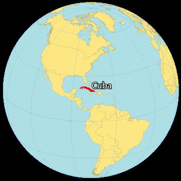 Cuba World Map