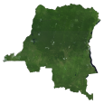 Democratic Republic of Congo Satellite Map