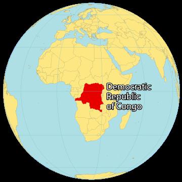 Democratic Republic of Congo World Map