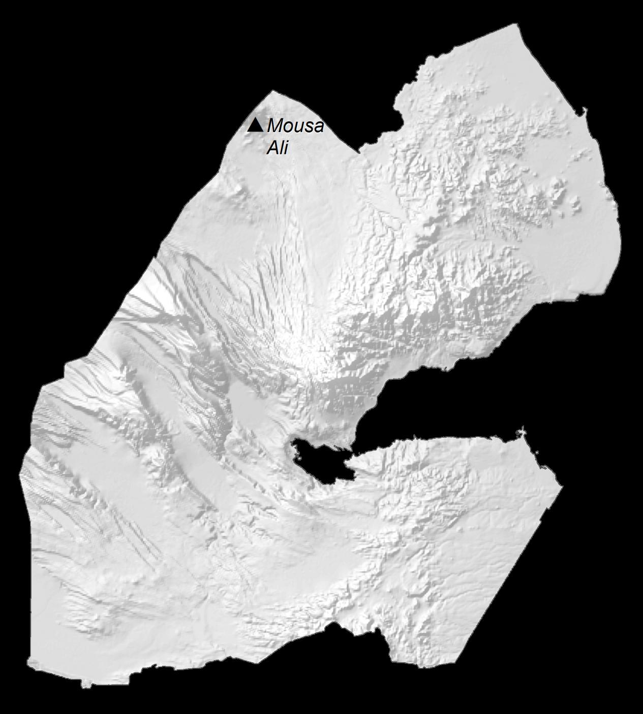 Djibouti Elevation Map