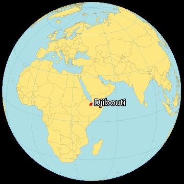 Djibouti World Map