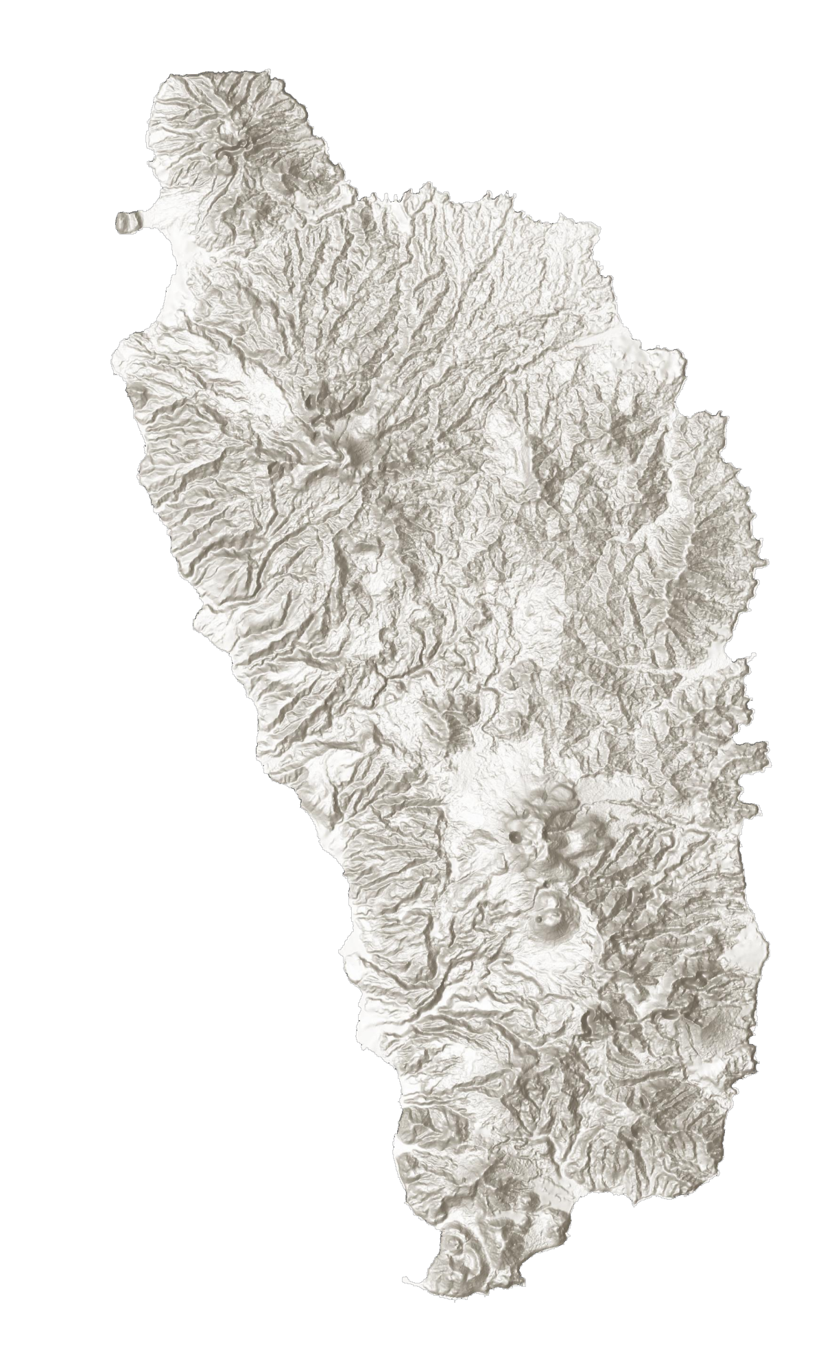 Dominica Elevation Map