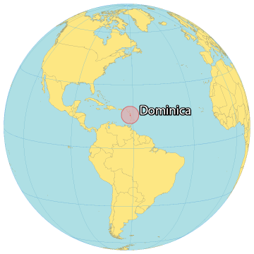 Dominica World Map
