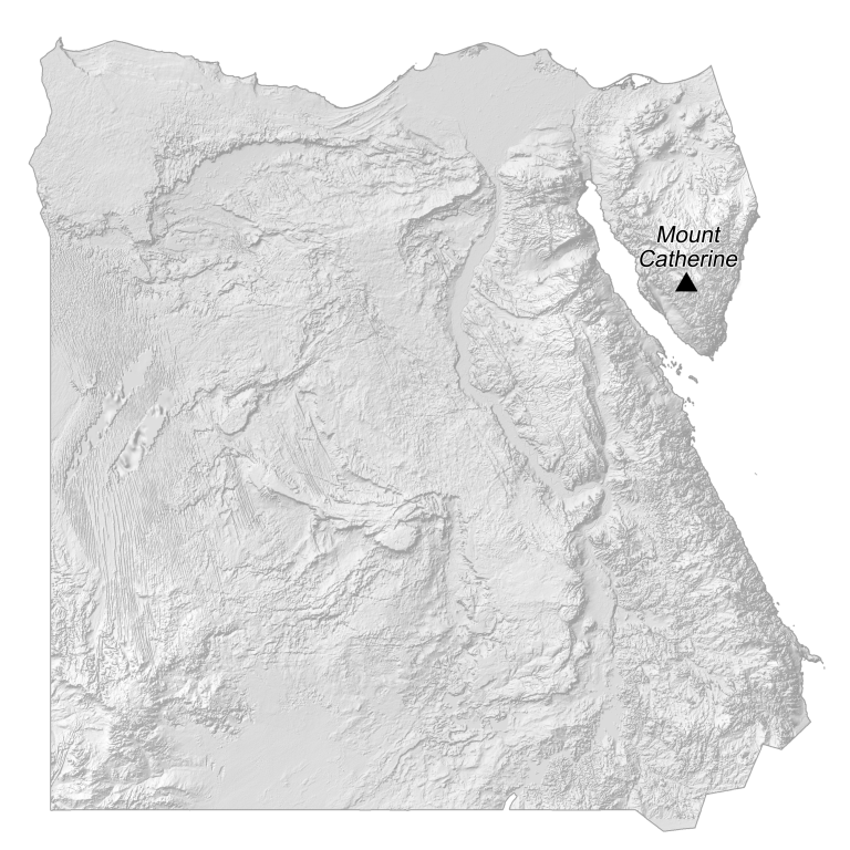 Egypt Elevation Map