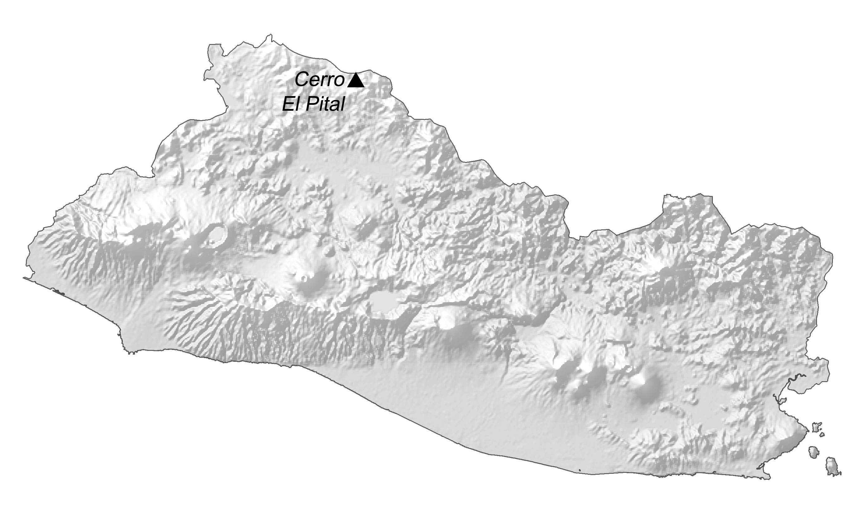 El Salvador Elevation Map