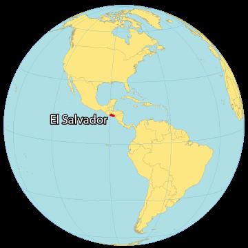 El Salvador World Map