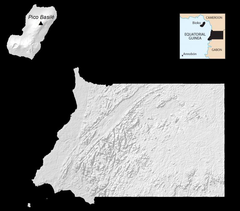 Equatorial Guinea Elevation Map