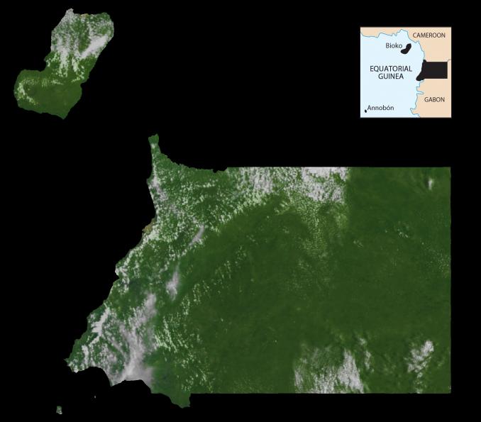 Equatorial Guinea Satellite Map