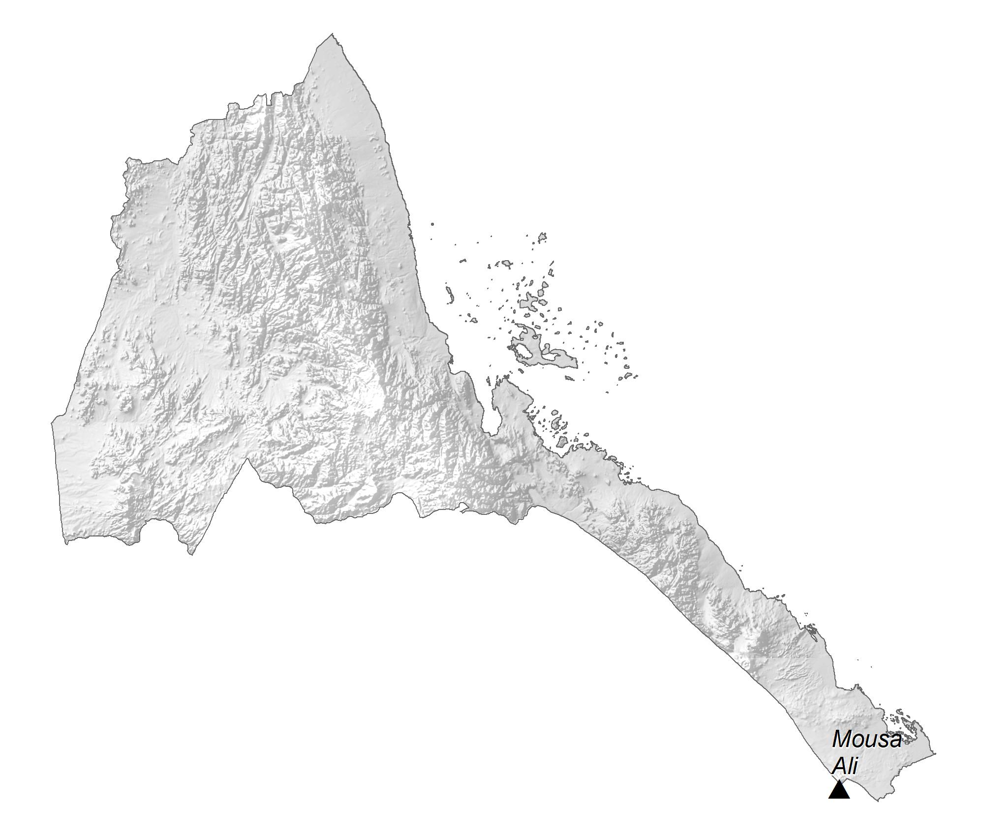 Eritrea Elevation Map