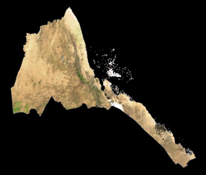 Eritrea Satellite Map