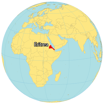 Eritrea World Map