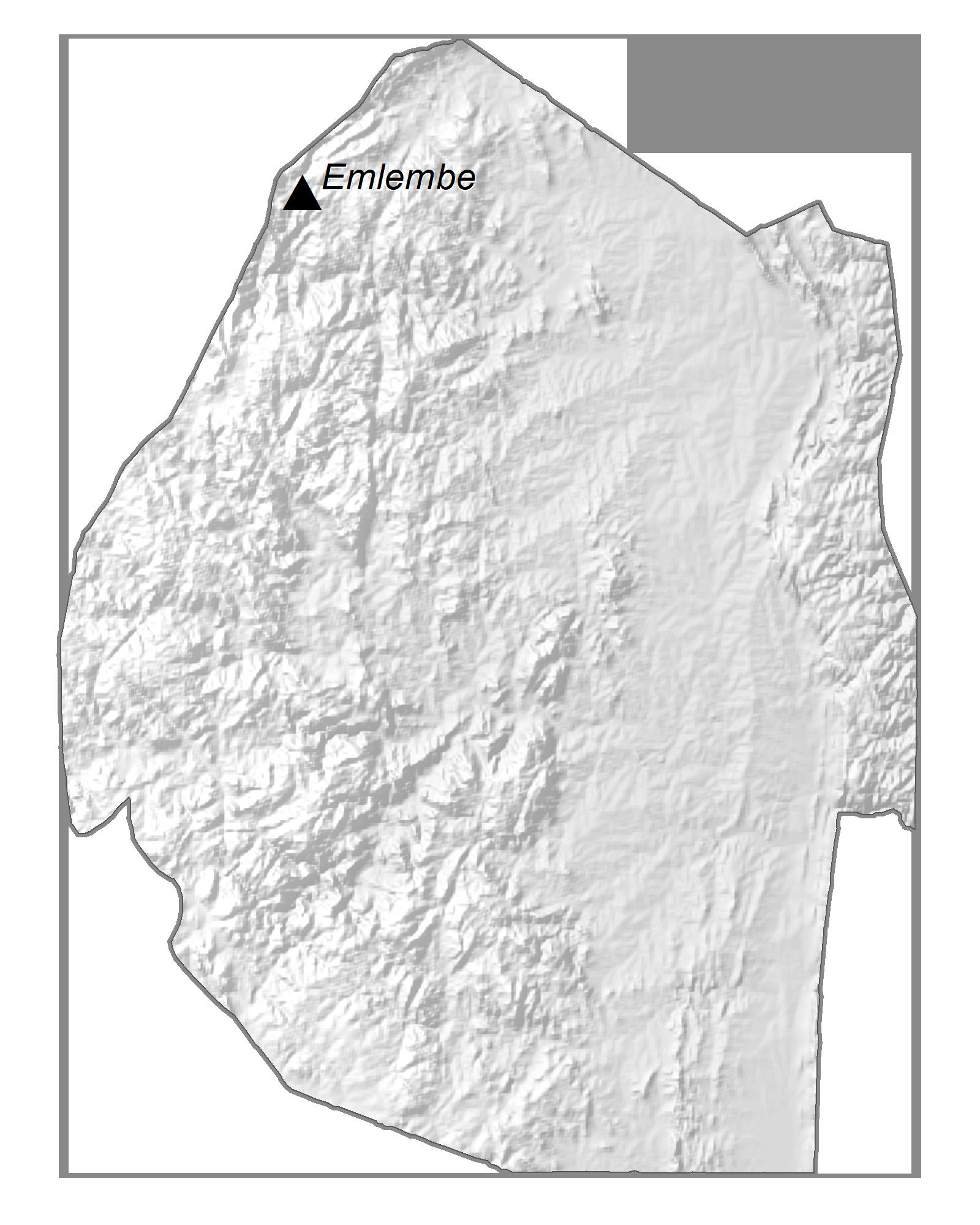 Eswatini Elevation Map
