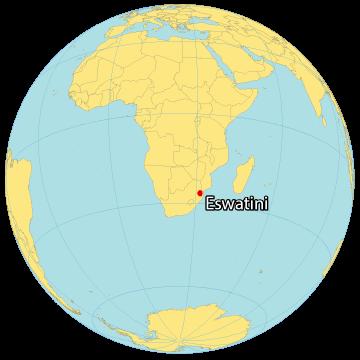 Eswatini World Map
