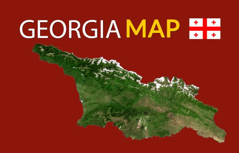 Map of Georgia (Europe)