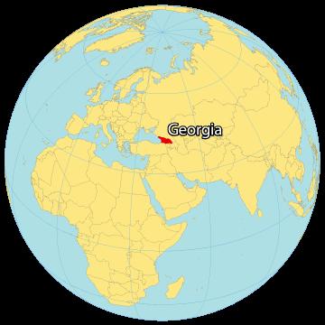 Georgia Country World Map