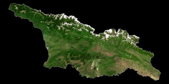 Georgia Satellite Map