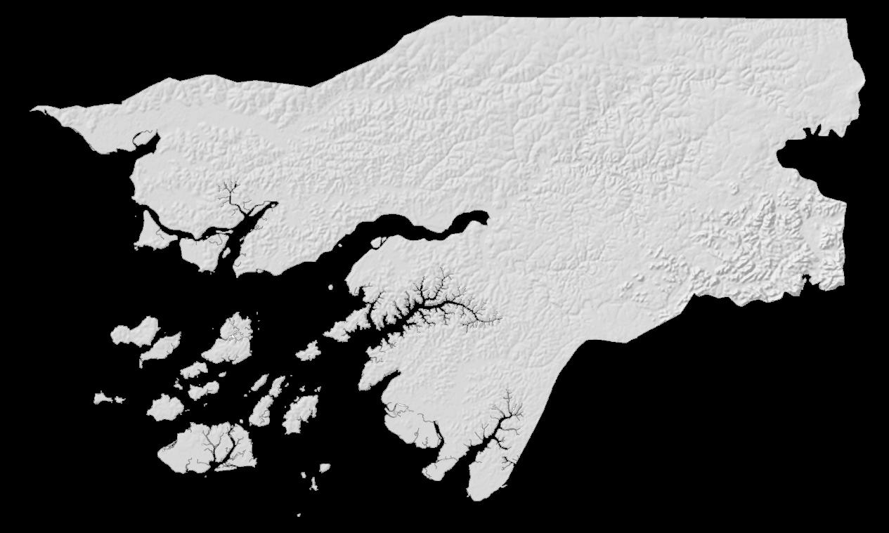 Guinea Bissau Elevation Map