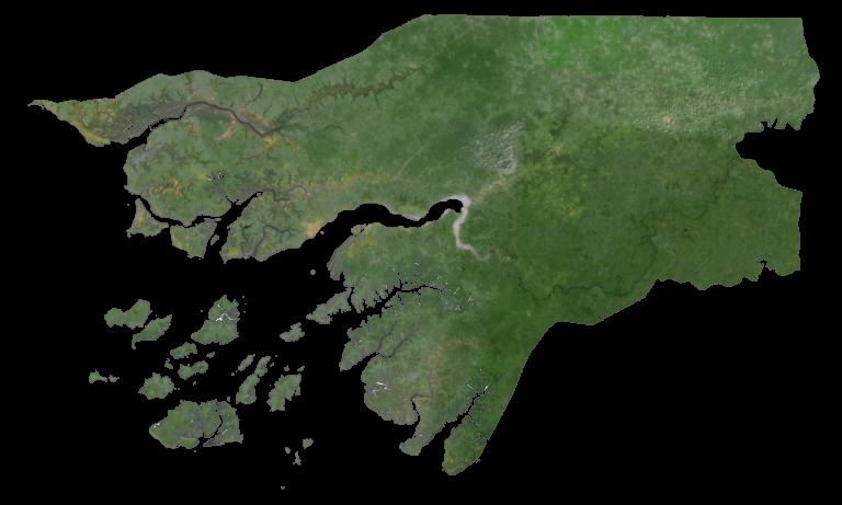 Guinea Bissau Satellite Map
