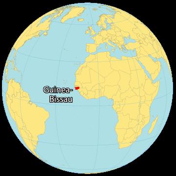 Guinea Bissau World Map