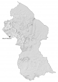 Guyana Hillshade Map