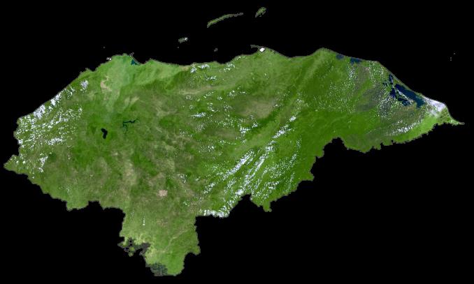 Honduras Satellite Map