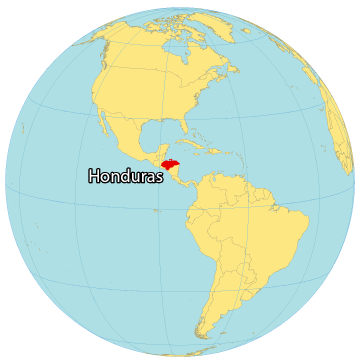 Honduras World Map