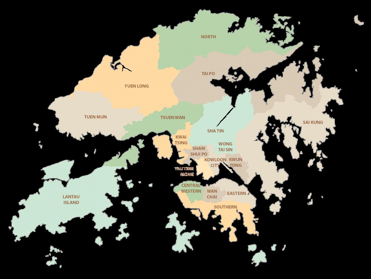 Hong Kong District Map