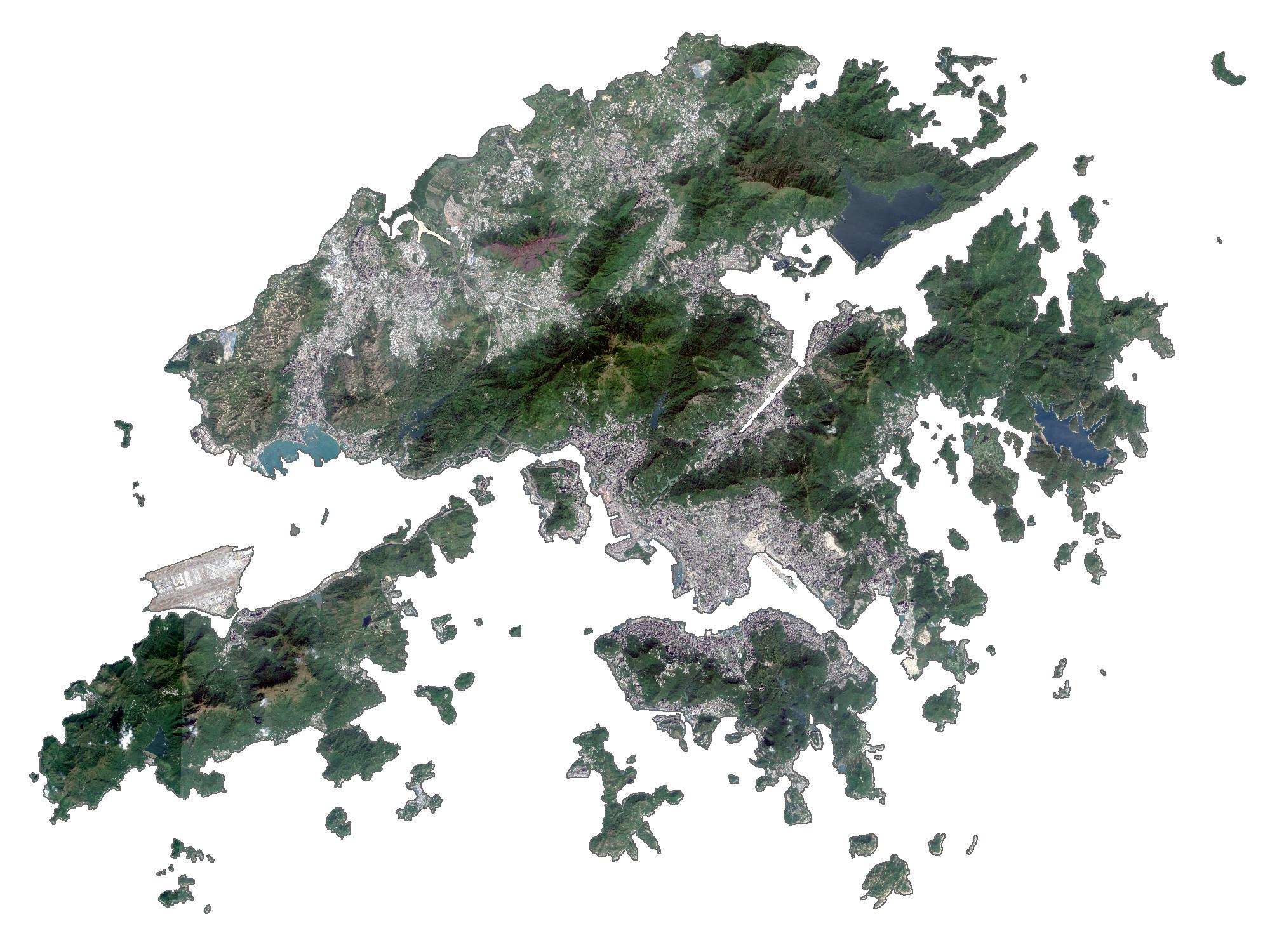 Hong Kong Satellite Map