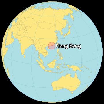 Hong Kong World Map