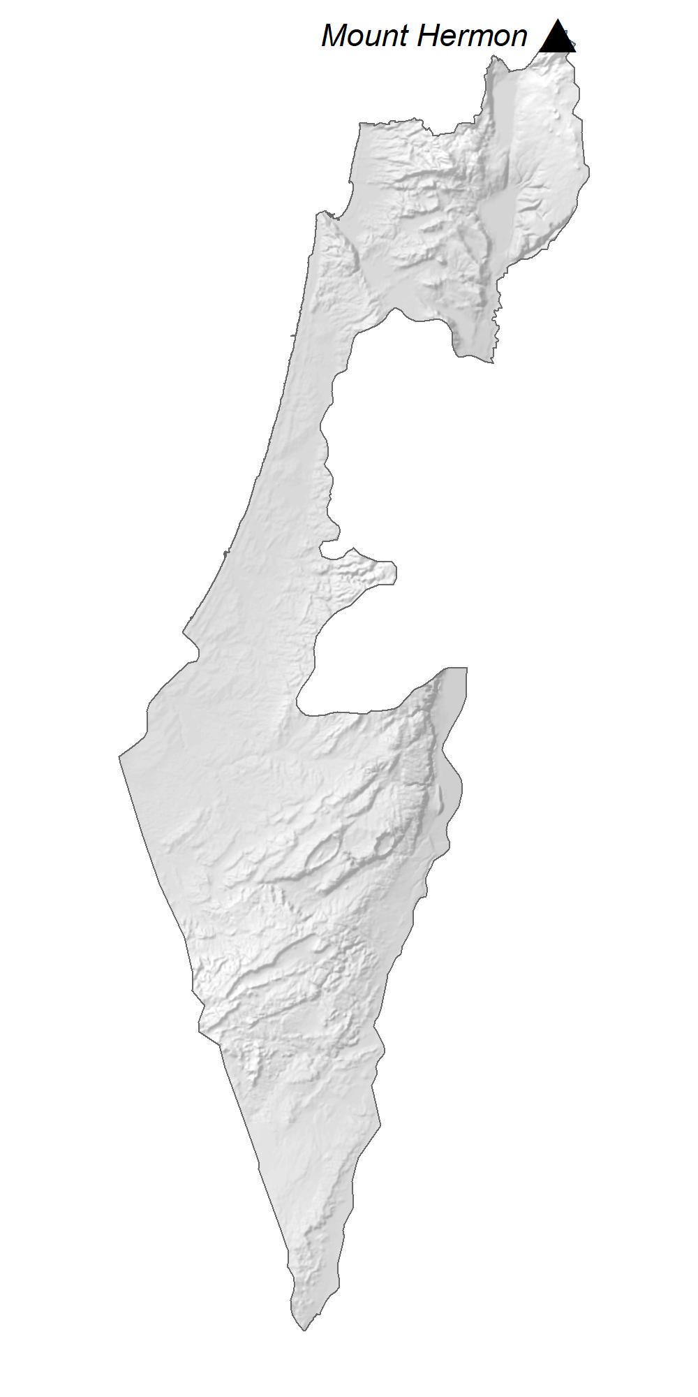 Israel Elevation Map