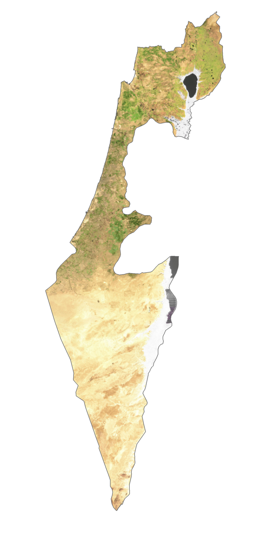 Israel Satellite Map