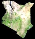 Kenya Satellite Map