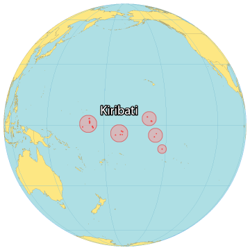 Kiribati World Map