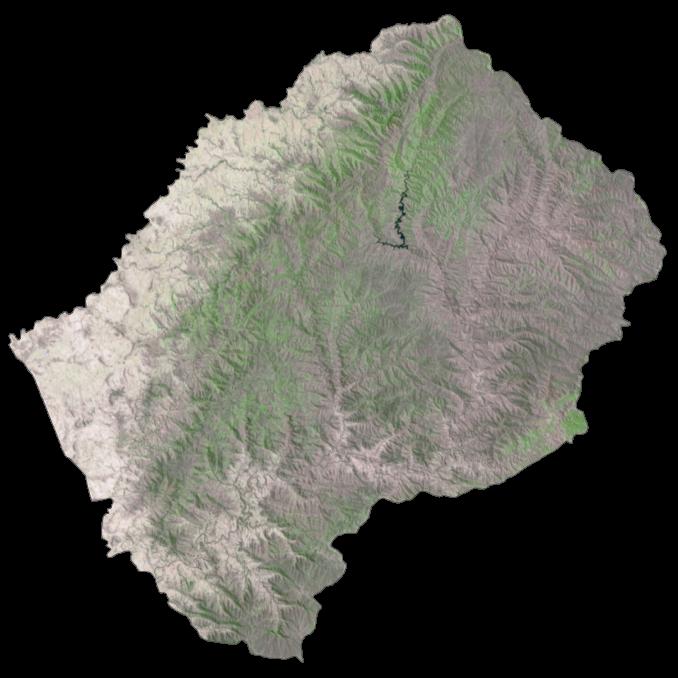 Lesotho Satellite Map