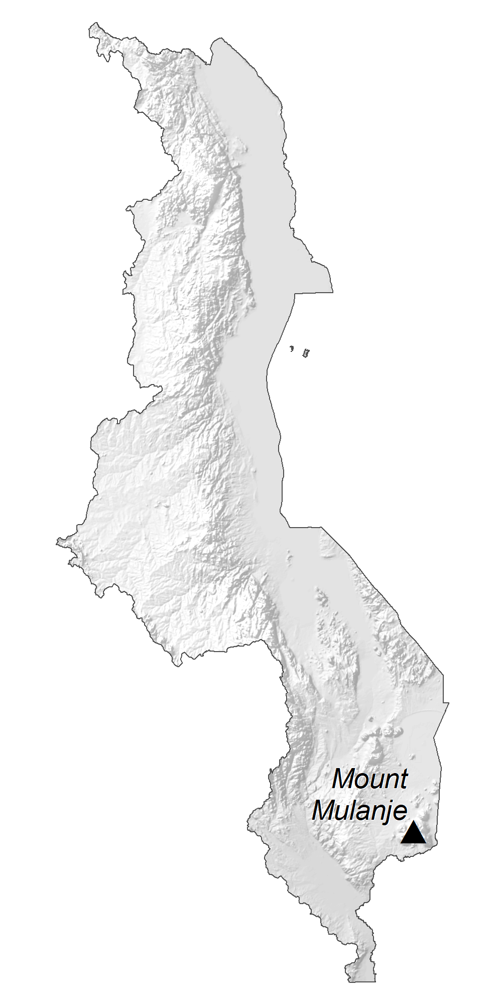 Malawi Elevation Map