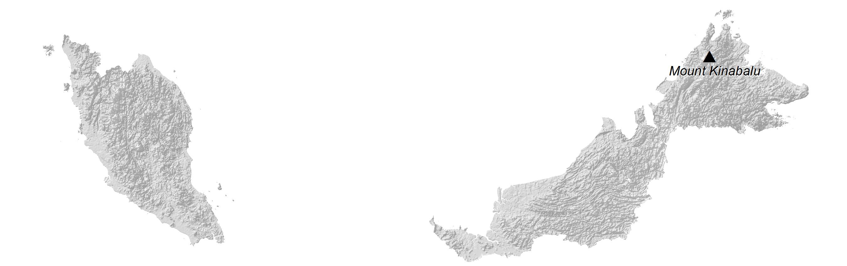Malaysia Elevation Map