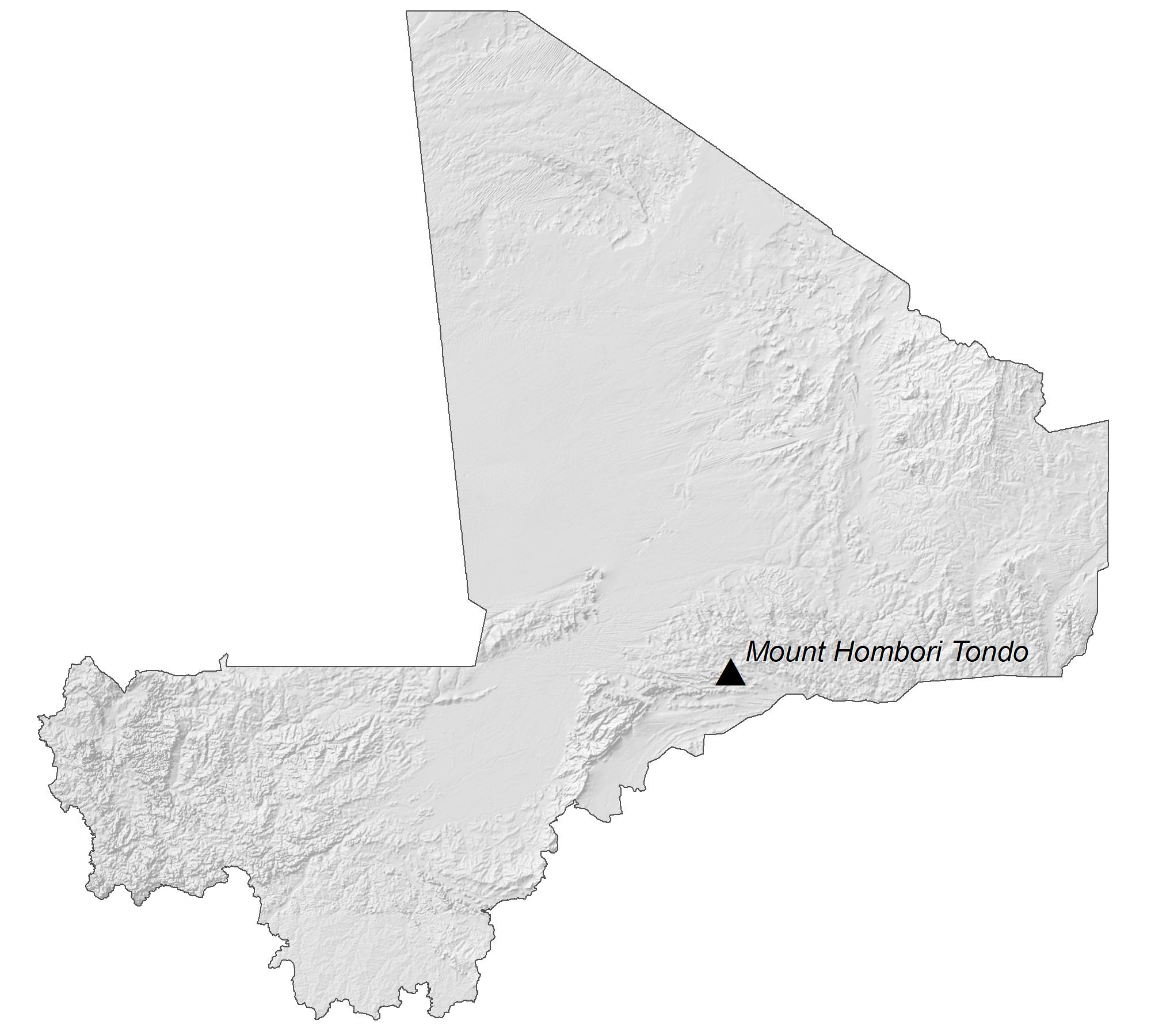 Mali Elevation Map