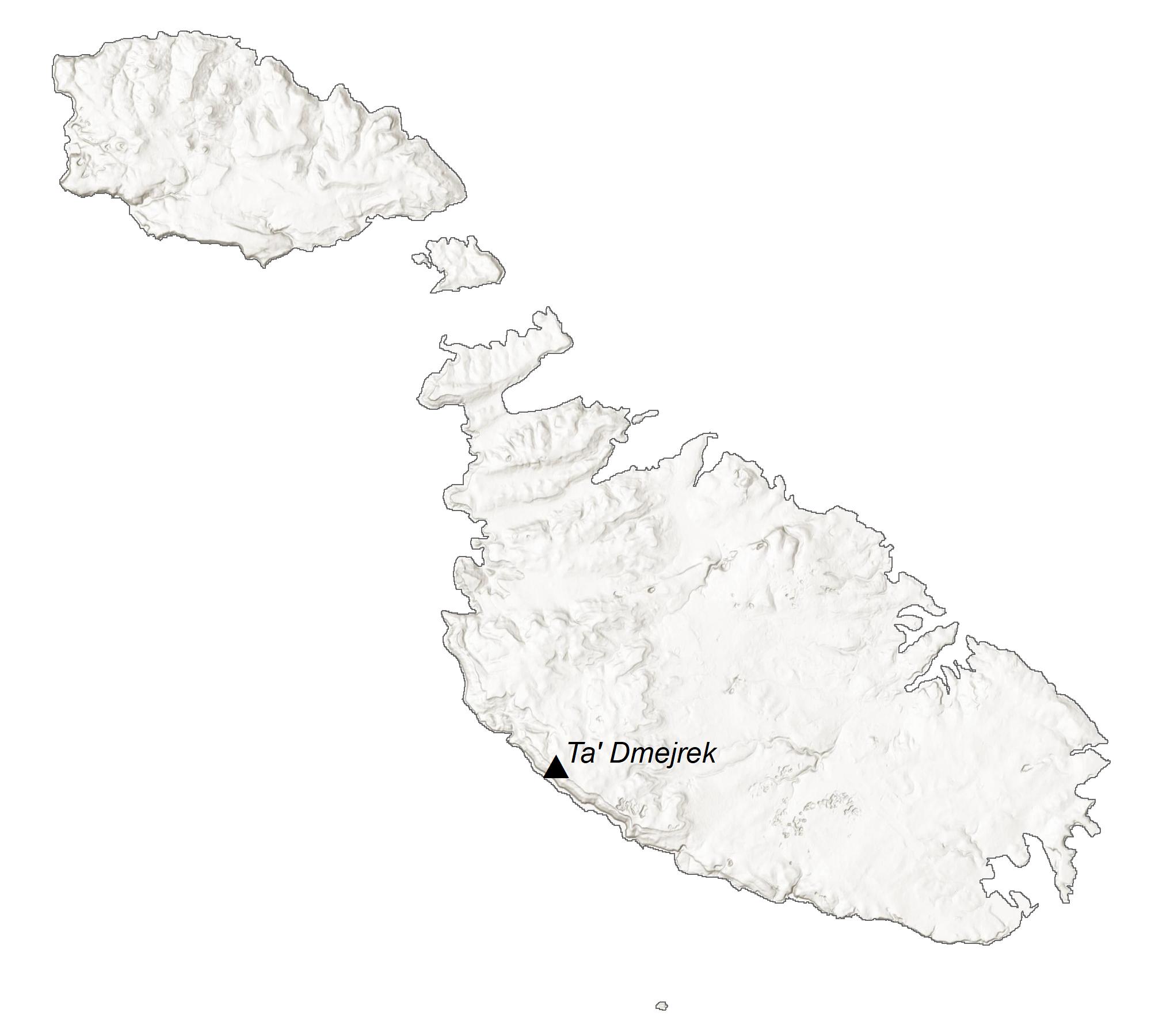 Malta Elevation Map