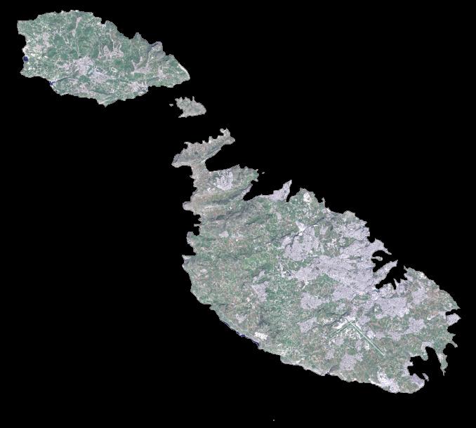 Malta Satellite Map
