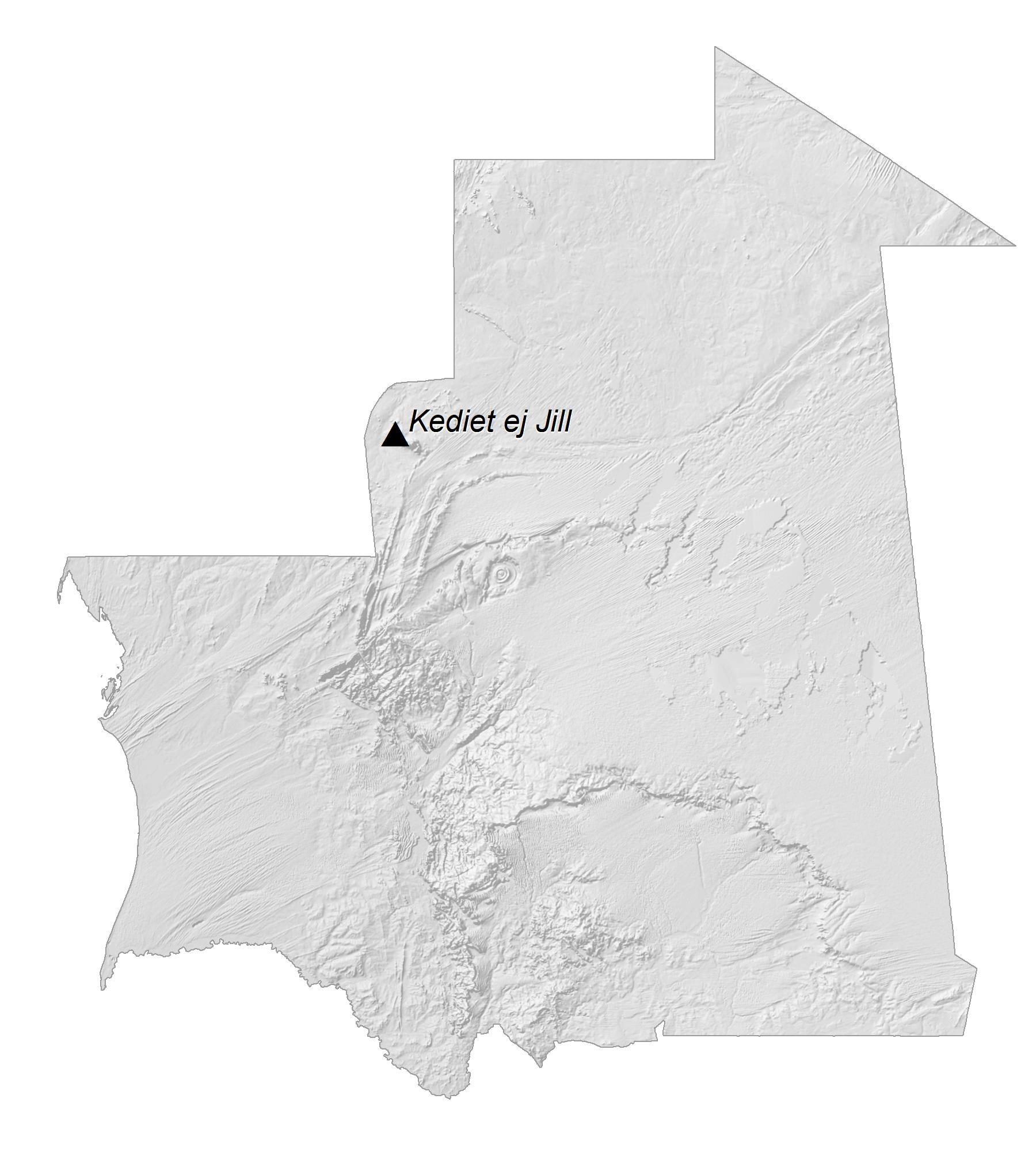 Mauritania Elevation Map
